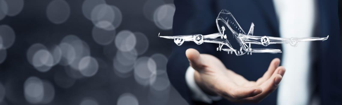 gezeichnetes flugzeug über hand
